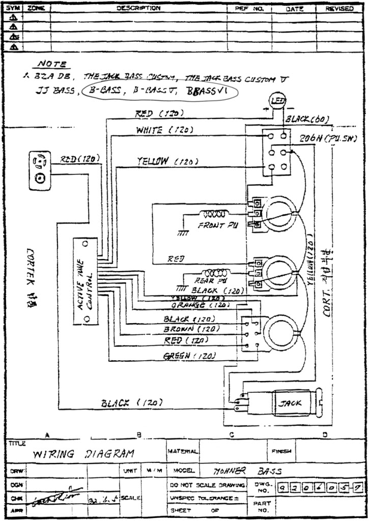 Hohner b2a active electronics repair lower west side studio b2a schematic b2a schematic switch wiring swarovskicordoba Gallery